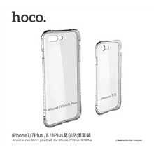 hoco. Armor series Case, Apple, iPhone 7 Plus /8 Plus, TPU, Transparent