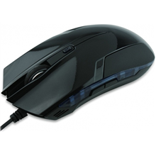 Super power Optical Gaming Mouse, 4 butons, whit Blue LED light, black, righthand, 2400 dpi, USB