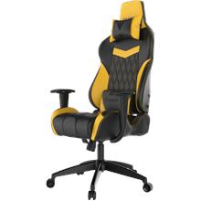 Gamdias Gaming Chair Achilles E2-L BY, Black/ yellow. Adjustable backrest, handlebars. Gamdias