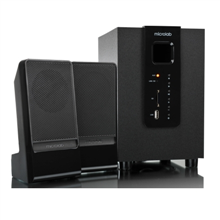 Microlab M-100U 2.1 Speakers/ 10W RMS (2.5Wx2+5W)/ USB, SD Card Slots, Play MP3 without PC
