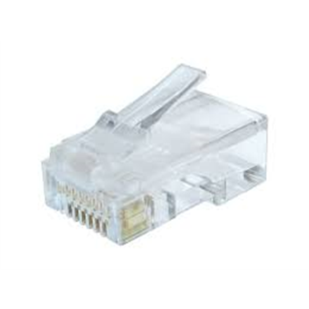Cablexpert Modular plug (adapter) 8P8C for solid CAT6 LAN cable, 10 pcs per bag