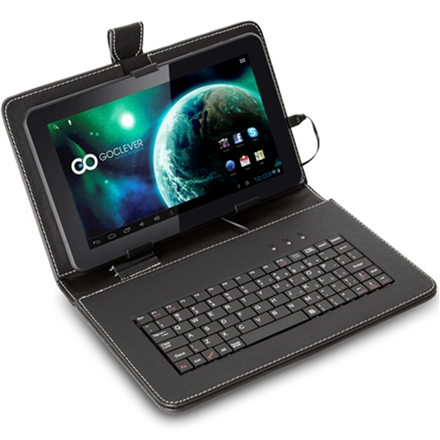 SALE OUT. GOCLEVER TAB TERRA 90 with Keyboard and Leather Case  9 800x480  Dual Core 1GHz, 512MB RAM, 8GB Flash  Android 4.1 Jelly Bean  WiFi  0.3MP Front Camera  MicroSD Slot, microUSB OTG - USED, REFURBISHED, SCRATCHED.