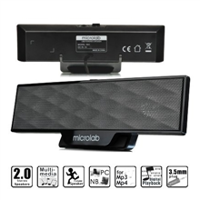 Microlab B-51 Soundbar Design Speakers/ 4W RMS (2W+2W)/ USB Powered/ with Clamp Mount