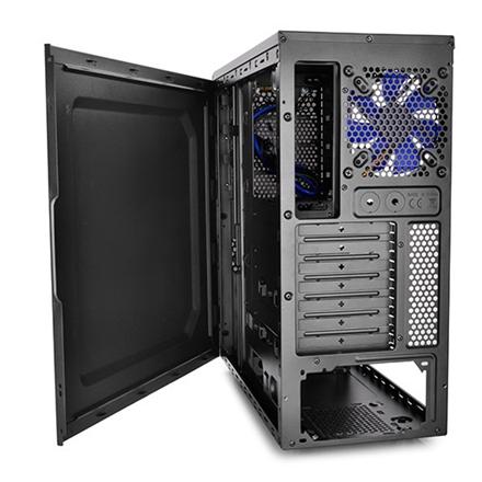 Deepcool TESSERACT SW Midl tower, USB 3.0 , Window, black inside, w/o PSU, mATX / ATX