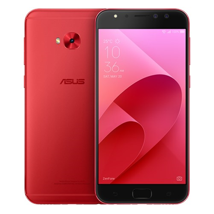 Asus ZenFone 4 Selfie Pro ZD552KL Red, 5.5 , FHD AMOLED display, 1080 x 1920 pixels, Qualcomm, Snapdragon625 MSM8953, Internal RAM 4 GB, 64 GB, support MicroSD, up to 128G additional storage, Dual SIM, Nano SIM, 3G, 4G, Main camera 16 MP, Second cam