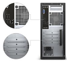Dell Vostro 3668 MT, Intel Core i5, i5-7400, Internal memory 4 GB, DDR4, HDD 1000 GB, Intel HD, DVD-RW Drive (Reads and Writes to DVD/CD), Keyboard language English, Russian, Linux, Black, 802.11BGN, 4.0, 7200 RPM