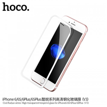 hoco. Cool Radian series High transparent ( V3 ) Screen protector, Apple, iPhone 6/6S, Tempered glass, White