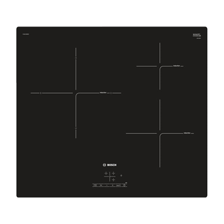 Bosch Hob  PUJ611BB1E Induction, Number of burners cooking zones 3, Black, Display, Timer
