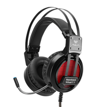 Aula Black, Built-in microphone, USB, Razorback gaming headset