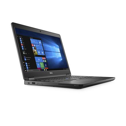 Dell Latitude 5480 Black, 14.0 , Full HD, 1920 x 1080 pixels, Matt, Intel Core i5, i5-7440HQ, 8 GB, DDR4, SSD 256 GB, Intel HD, Windows 10 Pro, 8265, Bluetooth version 4.2, Keyboard language English, Keyboard backlit, Warranty Basic Next Business Da
