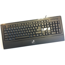 Super power Keyboard KM-1019 black, USB, EN/EST layout, waterproof, with 18 Multimedia Keys,