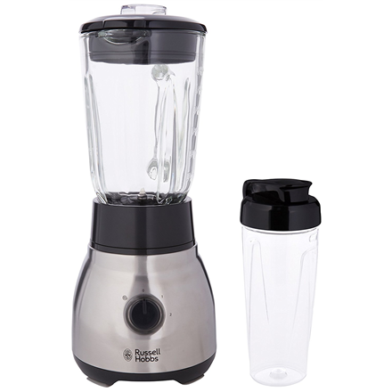 Blender Russell Hobbs 2-in-1 23821-56 Black/Stainless steel, 600 W, Glass, 1.5 L, Tabletop
