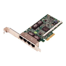 Dell Broadcom 5719 Quad Port 1 Gigabit Network Interface Card Low Profile, Cuskit PCI Express