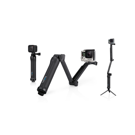 GoPro AFAEM-001 Can be used three main ways: as a camera grip, extension arm or tripod; Configurable for a wide range of uses, from capturing POV footage and selfies, to follow-cam, static tripod shots and more; Folding arm makes it easy to capture s