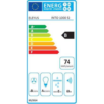 Hood Eleyus Into 1000 52 IS LED Built-in, Width 52 cm, 750 mamp;#179; h, Stainless steel, Energy efficiency class B, 70 dB