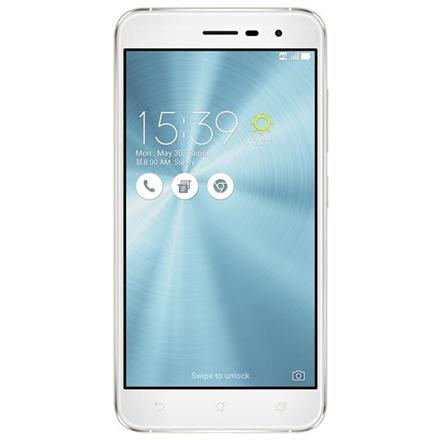 Asus Zenfone 3 ZE520KL White, 5.2 , IPS FHD, 1920x1080 pixels, Qualcomm Snapdragon 625, MSM8953, Internal RAM 3 GB, 32 GB, microSD up to 256GB, Dual SIM, Nano-SIM, 3G, 4G, Main camera 16 MP, Second camera 8 MP, Android, 6.0, 2650 mAh