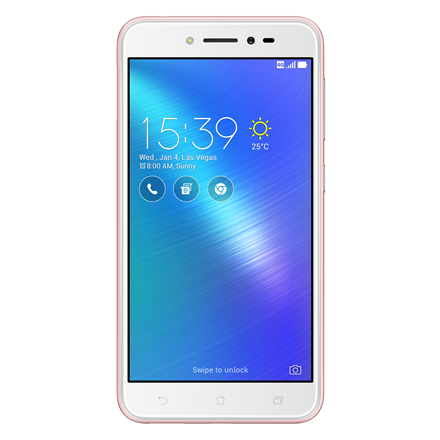 Asus ZenFone Live ZB501KL Rose Pink, 5.0 , IPS LCD, 720 x 1280 pixels, Qualcomm Snapdragon 400, MSM8928, Internal RAM 2 GB, 16 GB, microSD, Dual SIM, Nano-SIM, 3G, 4G, Main camera 13 MP, Second camera 5 MP, Android, 6.0, 2650 mAh, Warranty 24 month(