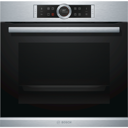 Bosch Oven HBG672BS1 Multifunction, 71 L, Stainless steel, Pyrolysis, Rotary and electronic, Height 60 cm, Width 60 cm