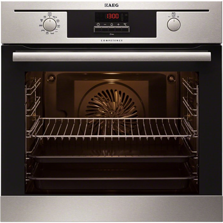 AEG BP 5013021M Pyrolytic Oven, 71L, 8 Functions, EC A, Pyroluxeamp;#174;Plus,ThermiCamp;#176;Air, OptiSight, IsoFrontamp;#174; Top, Inox