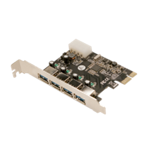 Logilink PCI-Express card, 4 x USB 3.0, VIA chipset