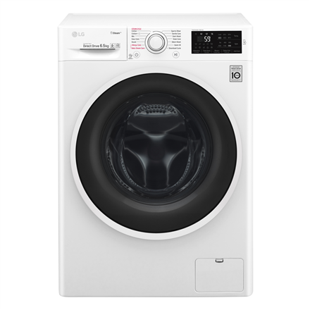LG Steam washing mashine  F4J6TY0W Front loading, Washing capacity 8 kg, 1400 RPM, Direct drive, A+++, Depth 55 cm, Width 60 cm, White, Steam function