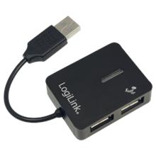 """Logilink UA0139 USB 2.0 Hub 4-port, """"Smile"""", black"""