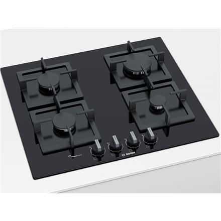 Bosch Hob PPP6A6B20 Gas, Number of burners cooking zones 4, Black,