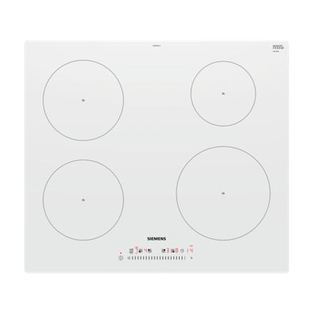 SIEMENS Hob EU612FEF1J Induction, Number of burners cooking zones 4, White, Display, Timer