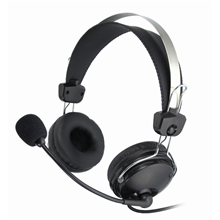 A4Tech headphones HS-7P, microphone, frequency - 20-20000Hz, impediance - 32 Ohm, sencivity - 97 db, cord - 2m, earphone hook.