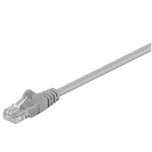 Goobay 68342 CAT 5e patch cable, U/UTP, grey, 1m Goobay