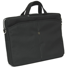 """Continent Notebook brief CC-01 for 15.6-16"""" (Black/Silver) / Nylon-Polyester / Internal: 40 x 27 x 3.5 cm"""