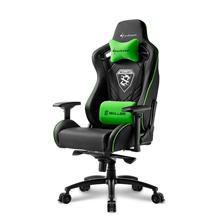 Sharkoon XXL Gaming Seat and XXLComfort, Skiller SGS4, Black/ green