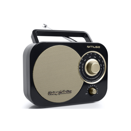 Muse Portable radio M-055RB Black Gold, AUX in