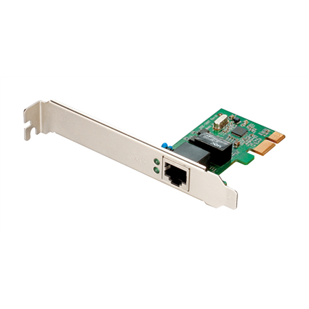 D-LINK DGE-560T, (Bulk) Managed Gigabit PCI-Express NIC, 1-port 100 1000 Mbps UTP with RJ-45 connector, (IEEE802.3ab), Full-Duplex, X1 PCI Express Serial Link, 802.3x Flow Control, 802.1Q VLAN tagging, 802.1p Layer 2, Priority Encoding, SNMP v1 Support, W