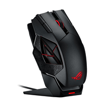 Asus ROG Spatha wired/wireless, Wireless connection, Laser mouse, Black