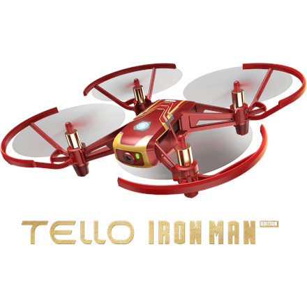 Ryze Tech Tello Toy drone (Iron Man Edition), powered by DJI