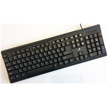 Super power Keybord KB-2019 Black, USB, EN/RU layout, Silk Printing