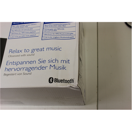 SALE OUT. Philips BTM2310 CD, MP3-CD, USB, FM Micro music system Philips BTM2310 12 DAMAGED PACKAGING,
