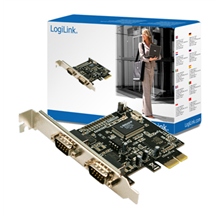 Logilink PCI-express interface card, 2x com(serial)