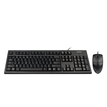 A4Tech Combo Mouse and Keyboard KR-85550 Wired, USB, Keyboard layout US, USB, Black, No, Wireless