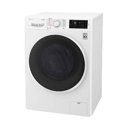 LG Washing mashine with dryer F4J6TG0W Front loading, Washing capacity 8 kg, Drying capacity 5 kg, 1400 RPM, Direct drive, A, Depth 56 cm, Width 60 cm, White, Steam function