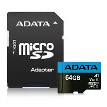 ADATA Premier UHS-I 64 GB, MicroSDXC, Flash memory class 10, Adapter