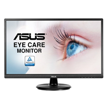 "Asus LCD VA249HE 23.8 "", VA, FHD, 1920 x 1080 pixels, 16:9, 5 ms, 250 cd/m², Black, HDMI, VGA, Eye Care, 178° Wide Viewing Angle"