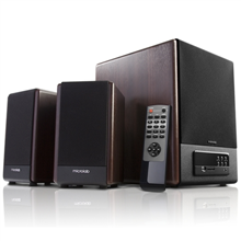 Microlab FC-530U 2.1 Speakers/ 64W RMS (18Wx2+28W)/ Remote/ FM Radio/ USB, SD Card Slots/ Plays