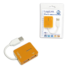"Logilink UA0137 USB 2.0  Hub 4-port, ""Smile"", orange"