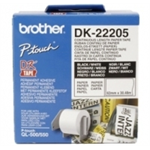 Brother DK-22205, 62mm x 30.48m, continous lenght label paper for QL550, QL650TD