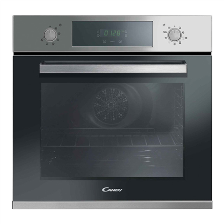 Candy FCPK626XL Multifunction Oven, 68 L, Black, Stainless steel, Pyrolytic, Rotary, Touch, Height 59,5 cm, Width 59,5 cm