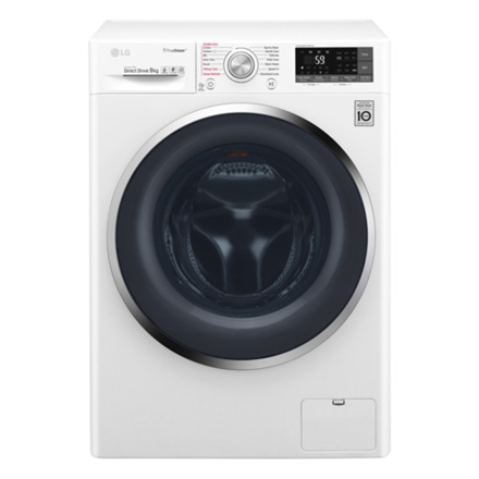 LG TrueSteam washing mashine  F4J8VS2W Front loading, Washing capacity 9 kg, 1400 RPM, Direct drive, A+++, Depth 56 cm, Width 60 cm, White, Display, LED, Steam function