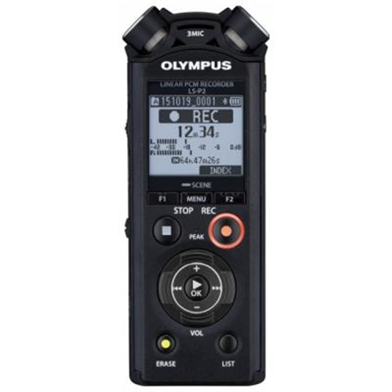 Olympus LS-P2 LED, Black, Microphone connection, MP3 playback