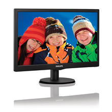 "PHILIPS 203V5LSB26 19.5"" LED/16:9/1600x900/200cdm2/5ms/H-90,V-50/10M:1/VGA/Tilt,Vesa/Black"